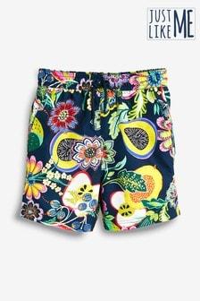 Matching Family Boys Fruit Print Swim Shorts (3mths-16yrs)