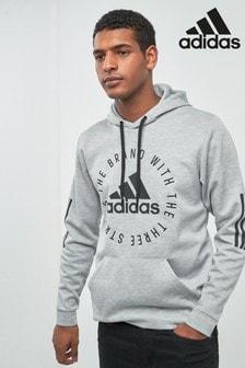 adidas Grey Sport ID Pullover Hoody