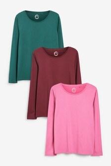 Long Sleeve Tops 3 Pack