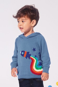 Rainbow Rocket Hoody (3mths-7yrs)