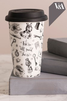 V&A Alice In Wonderland Ceramic Travel Mug
