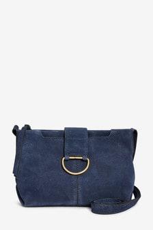 Suede Across-Body Bag