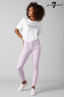 7 For All Mankind® Lilac Cropped Skinny Jean