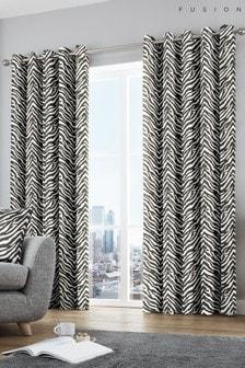 Fusion Zebra Eyelet Curtains