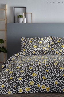 Fusion Leopard Duvet Cover and Pillowcase Set