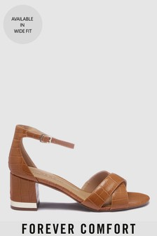 73e58d5ce664 Forever Comfort® Cross Over Block Heel Sandals