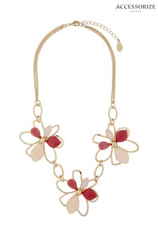 Accessorize Pink Tilly Flower Statement Necklace
