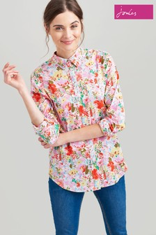 Joules Pink Lucie Printed Woven Shirt