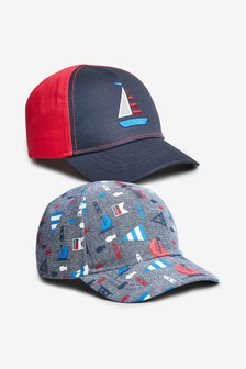 2 Pack Nautical Caps (Younger)