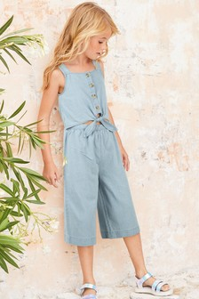 Tie Front Playsuit (3-16yrs)