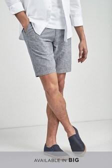 Linen Blend Stripe Chino Shorts