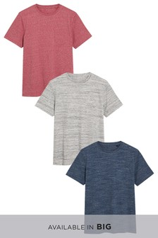 Fabric Interest T-Shirts Three Pack