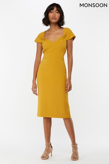 Monsoon Ladies Yellow Sabrina Shift Dress