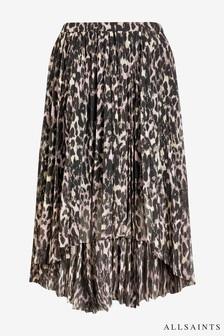 All Saints Leopard Print Pencil Skirt