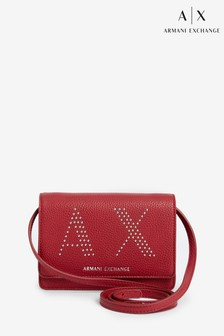 Armani Exchange Red Stud Cross Body Bag