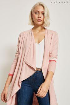 Mint Velvet Pink Colourblock Cardigan