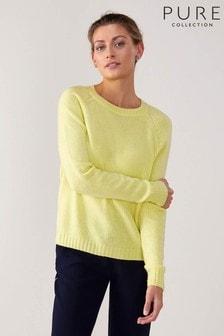 Pure Collection Yellow Cashmere Lofty Sweatshirt