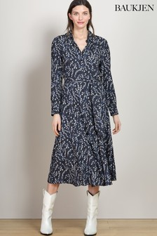 Baukjen Black Spring Bloom Fleur Shirt Dress