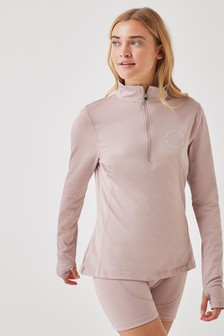 Pink Soda Pink Olympic Sunset Quarter Zip Fitness Top