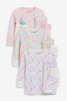 Unicorn Snuggle Pyjamas Three Pack (9mths-8yrs)