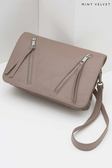 Mint Velvet Pink Anna Flap Detail Cross Body Bag