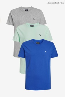 Abercrombie & Fitch Blue Tee Three Pack