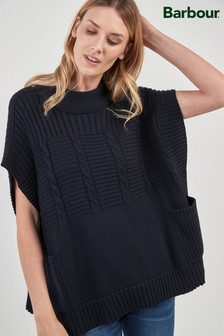 Barbour® Navy Knit Poncho