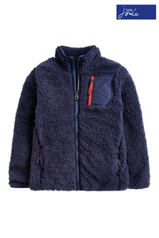 Joules French Blue Ridley Boys Fleece Sweatshirt