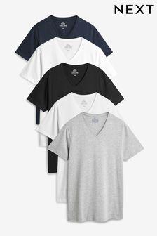 V-Neck T-Shirts Five Pack