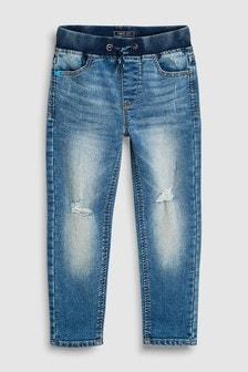 Rib Waist Jersey Denim Skinny Jeans (3-16yrs)
