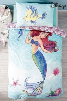 Disney™ Ariel Little Mermaid Duvet Cover And Pillowcase Set