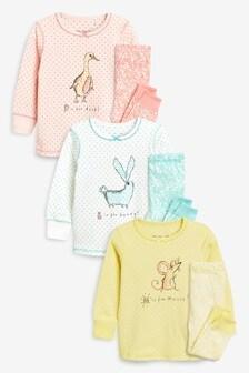 Farm Animal Character Snuggle Pyjamas Three Pack (9mths-8yrs)