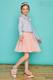 Outside The Lines Pink Fluro Tutu Skirt