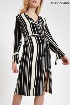 River Island Stripe Tie Waisted Dress