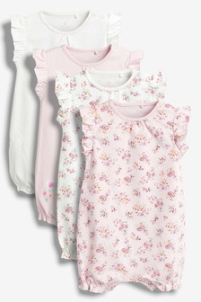 Floral Rompers Four Pack (0mths-2yrs)