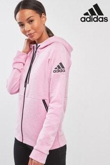 adidas ID Stadium Pink Zip Through Hoody