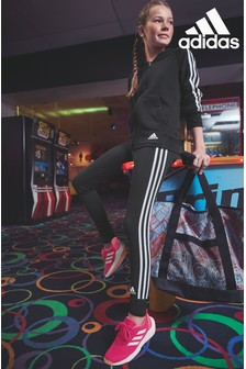 adidas Black 3 Stripe Jogger