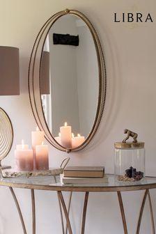 Libra Carrick Oval Gold Iron Mirror