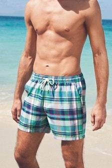 Madras Check Swim Shorts