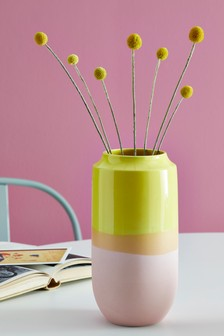 Bright Dipped Vase