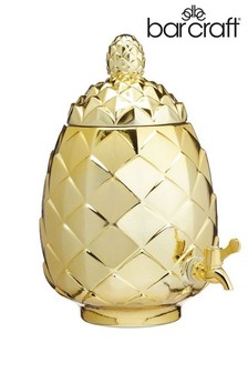 Barcraft Metallic Gold Pineapple Drinks Dispenser