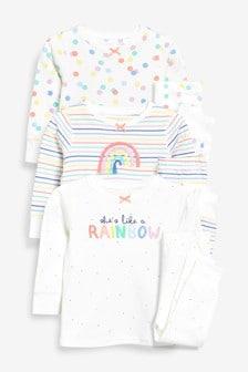 Rainbow Snuggle Pyjamas Three Pack (9mths-8yrs)