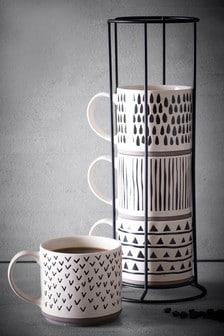 Set of 4 Arlo Stacking Mugs