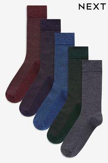 Pindot Spot Socks Five Pack