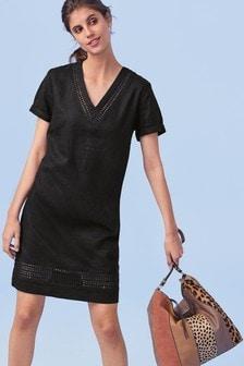 Linen Blend T-Shirt Dress