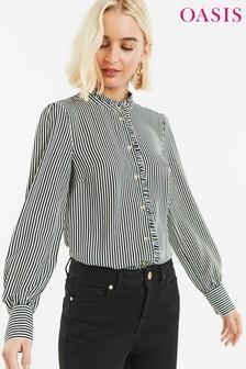 Oasis Black Pie Crust Stripe Shirt