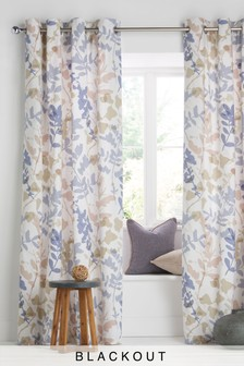 Natures Hand Blackout Eyelet Curtains