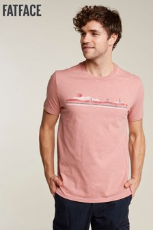 FatFace Pink Paddle Boarders Graphic Tee