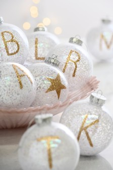 Set of 2 Alphabet Baubles