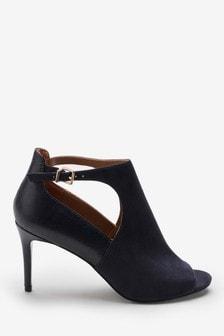 Cut-Out Peep Toe Shoe Boots